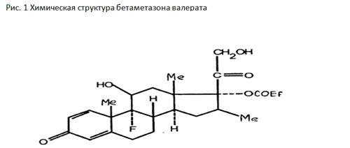хімічна структура бетаметазона валерат